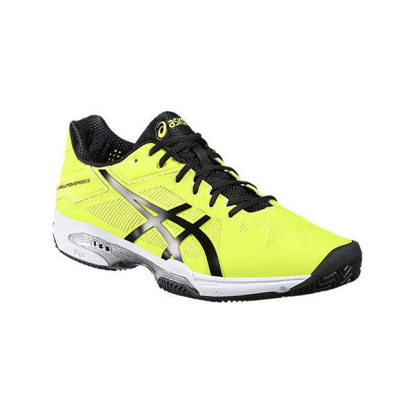 ASICS Uomo Gel Solution Speed 3 Scarpe Da Tennis Giallo Sport Traspirante
