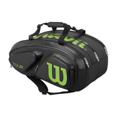 borsone-wilson-tour-15-pack-nero-verde-tennis3.it