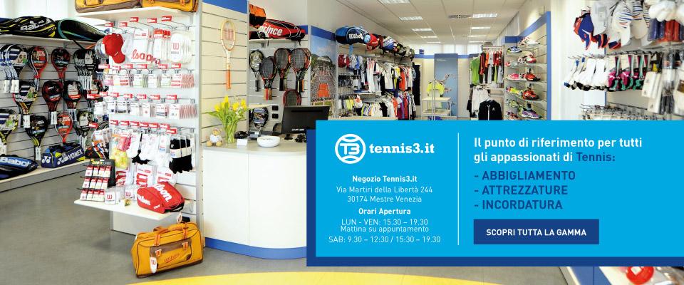 Negozio Tennis3 Abbigliamento racchette attrezzatura Tennis
