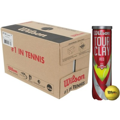 cartone 18 tubi palla tennis wilson tour clay