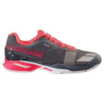 scarpa-babolat-jet-all-court-donna-rossa-fluo-tennis3.it